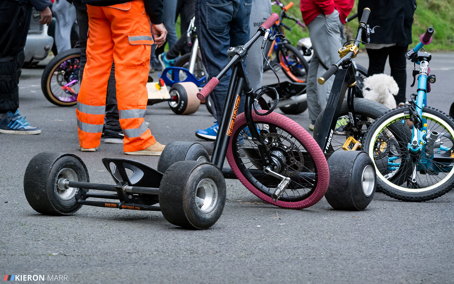 Drift trike and riders