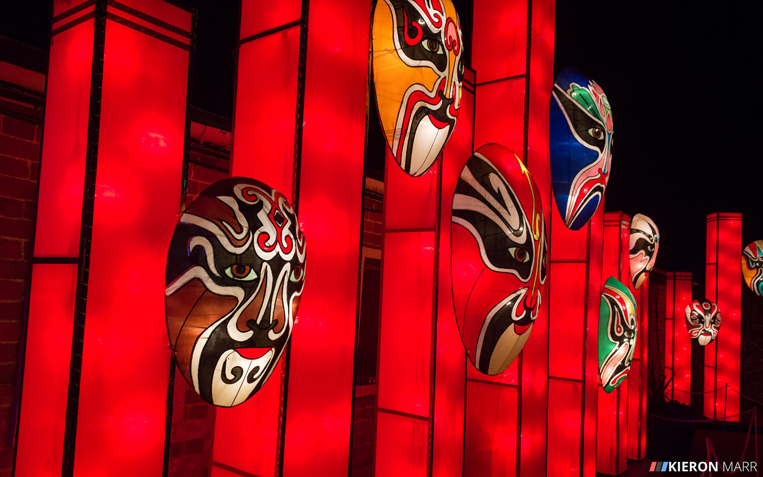 Longleat Festival of Light 2014 - Traditional Chinese Masks
