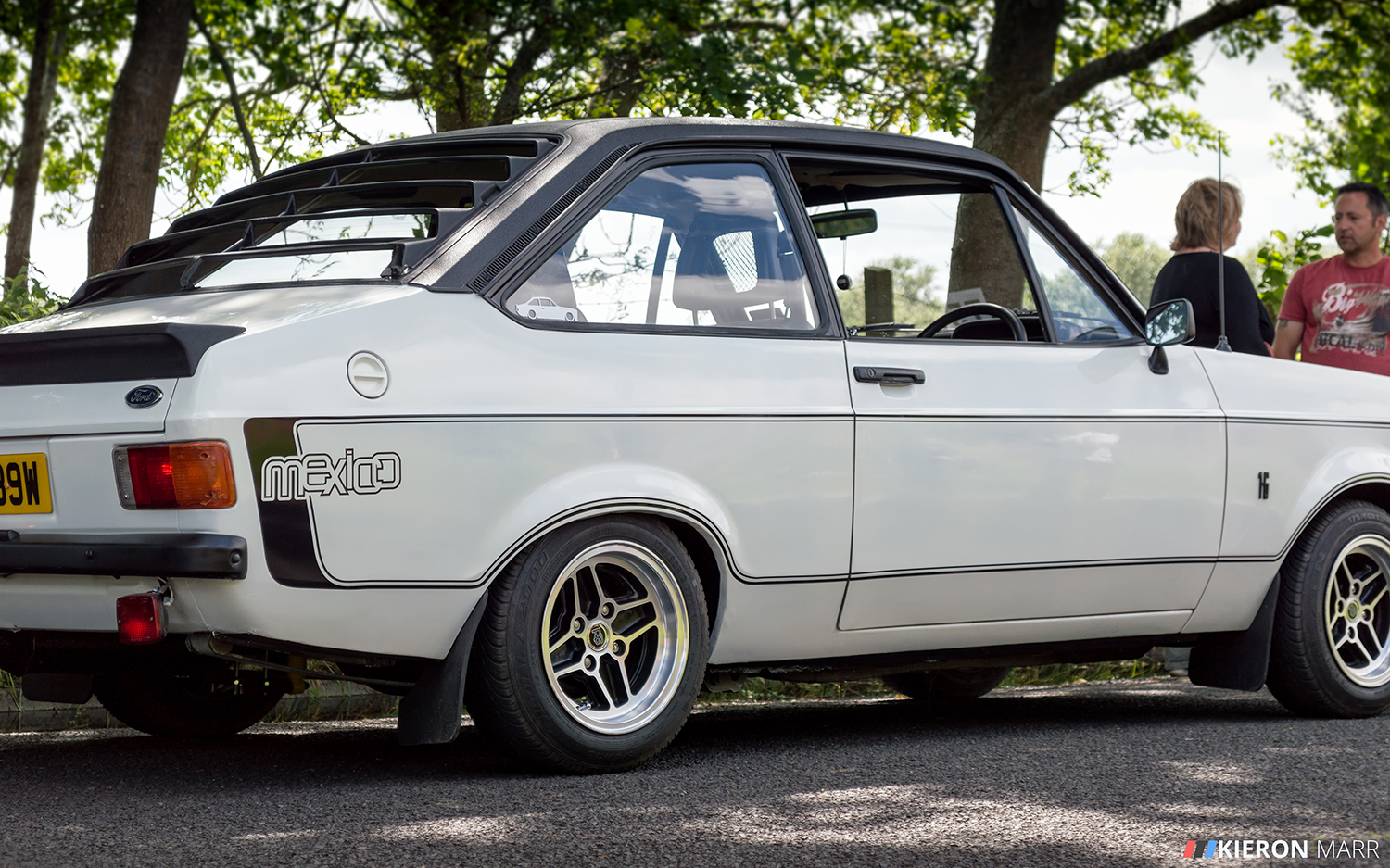 Ford Escort Mexico White - Back Side